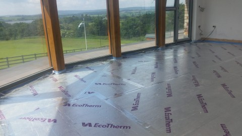 Celotex Insulation For The Underfloor Heating Pipes