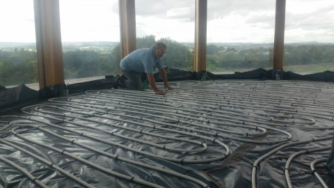 ASHP and Solar with Underfloor heating